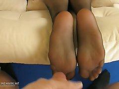 Foot Fetish, Redhead, Stockings