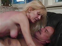 Blowjob, Facial, Mature, Blonde, Hairy