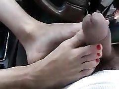 Amateur, Foot Fetish, Masturbation, Mature, Outdoor
