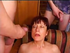Big Boobs, Group Sex, Russian