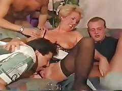Double Penetration, German, Group Sex, Old and Young