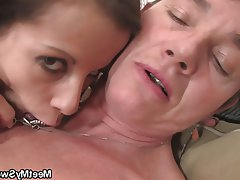 Granny, Mature, Old and Young, Teen, Threesome