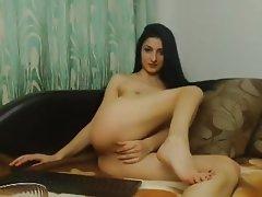 Webcam, Brunette, Dildo