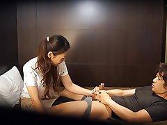 CFNM, Handjob, Japanese, Massage