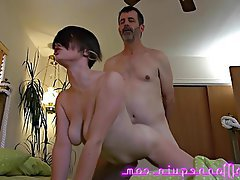 Cum in mouth, Hardcore, MILF, Orgasm