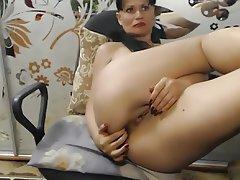Amateur, Masturbation, MILF, Saggy Tits, Webcam