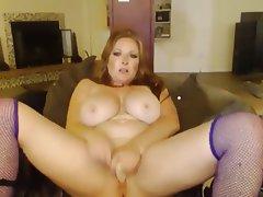 Amateur, Big Boobs, MILF, Redhead, Webcam