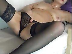 Lingerie, Masturbation, Mature, Webcam