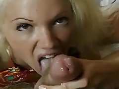 Babe, Blonde, Blowjob, Cum in mouth