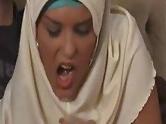 Arab, Blowjob, Cumshot, Big Boobs