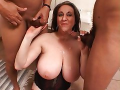 BBW, Big Boobs, Hairy, Interracial