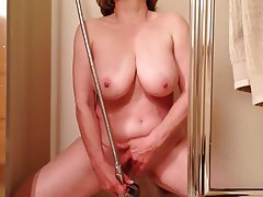 Masturbation, Mature, Shower, Voyeur