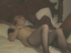 Amateur, Cuckold, Interracial, Stockings, Threesome