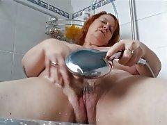 Amateur, BBW, British, Mature, Shower