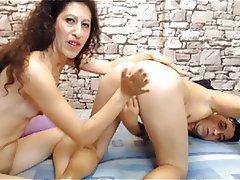 Anal, Ass Licking, MILF, Skinny, Webcam