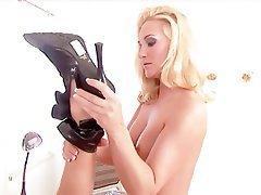 Ass Licking, Blonde, Brunette, Lingerie, Masturbation
