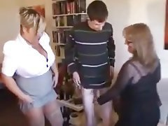 BBW, Mature, MILF, Old and Young, Threesome